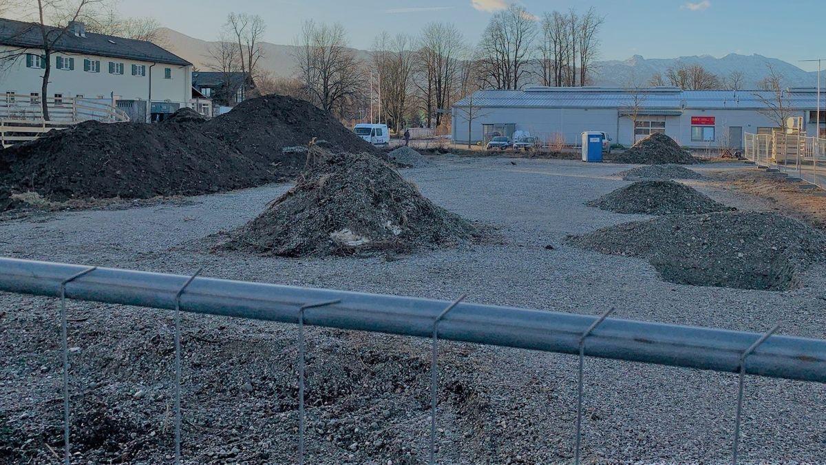 Baustelle: Hier in Murnau entsteht das neue Trainings- und Schulungszentrum für Polizisten aus dem Oberland
