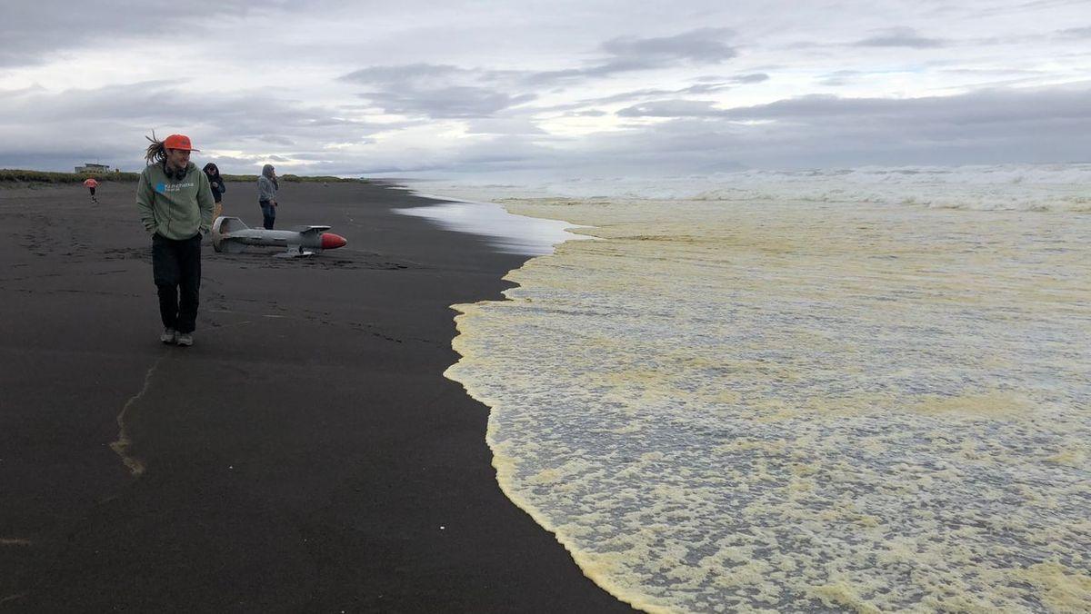 Meeresverschmutzung an derHalbinsel Kamtschatka