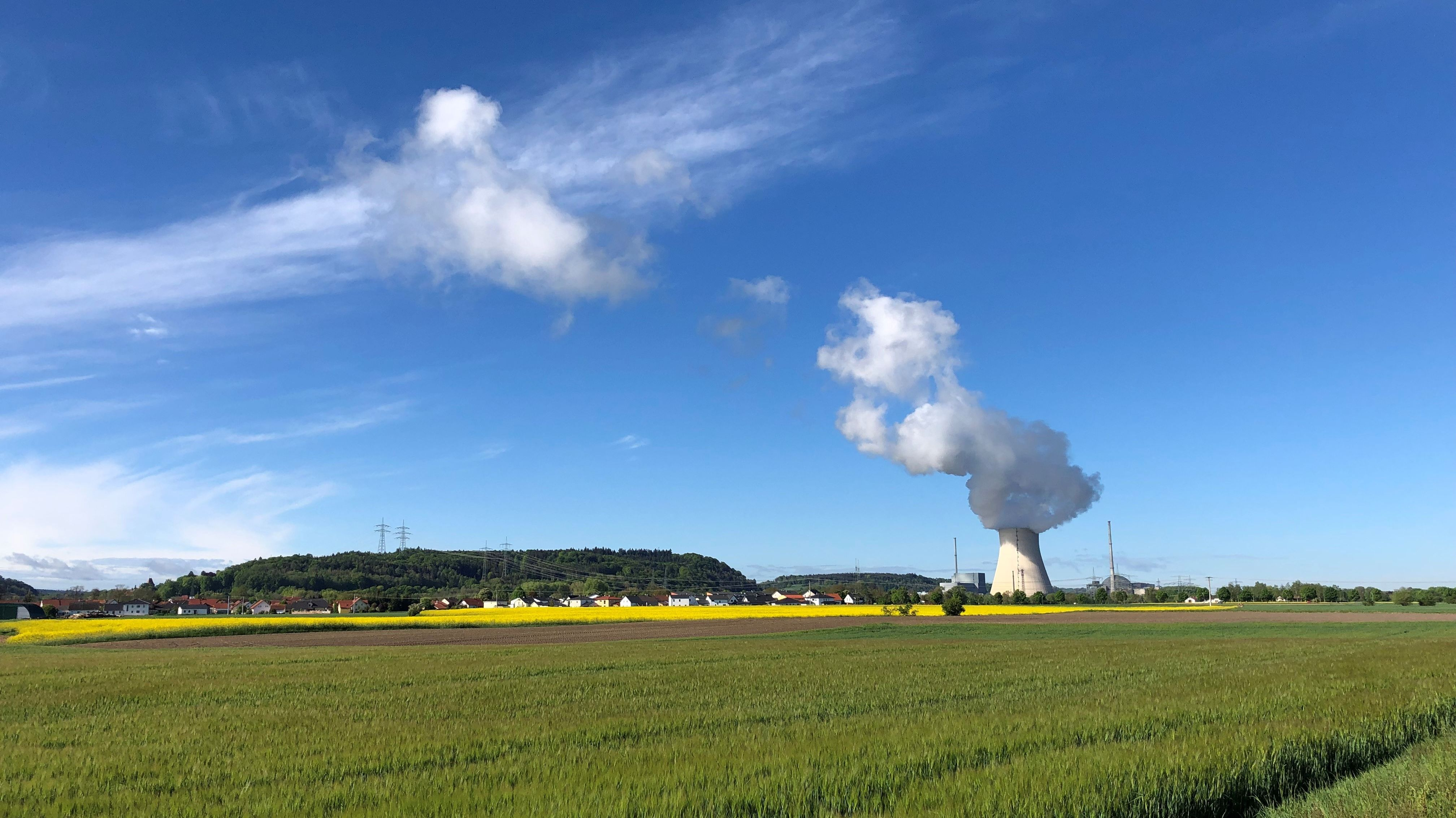 Das Kernkraftwerk OHU im Landkreis Landshut