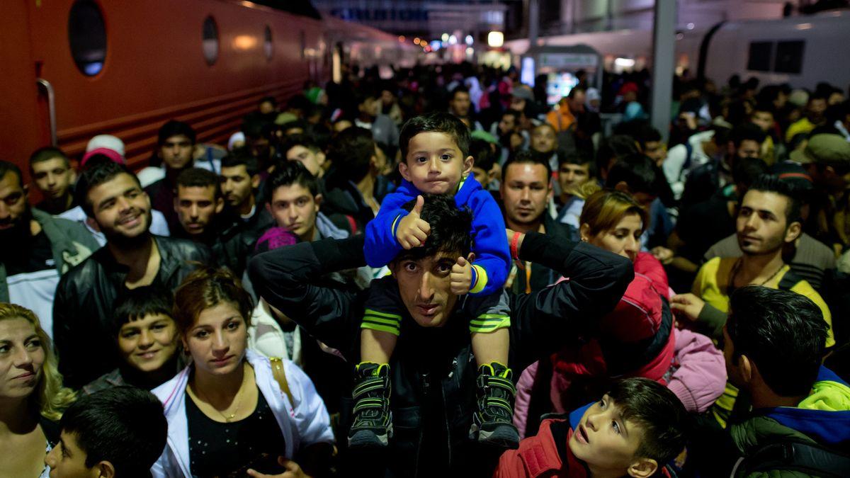 Flüchtlinge am Münchner Hauptbahnhof im September 2015