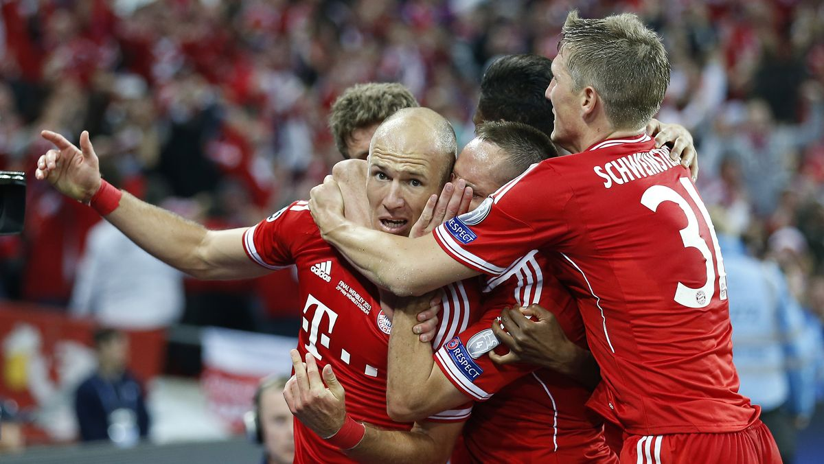 Arjen Robben, Franck Ribéry und Bastian Schweinsteiger