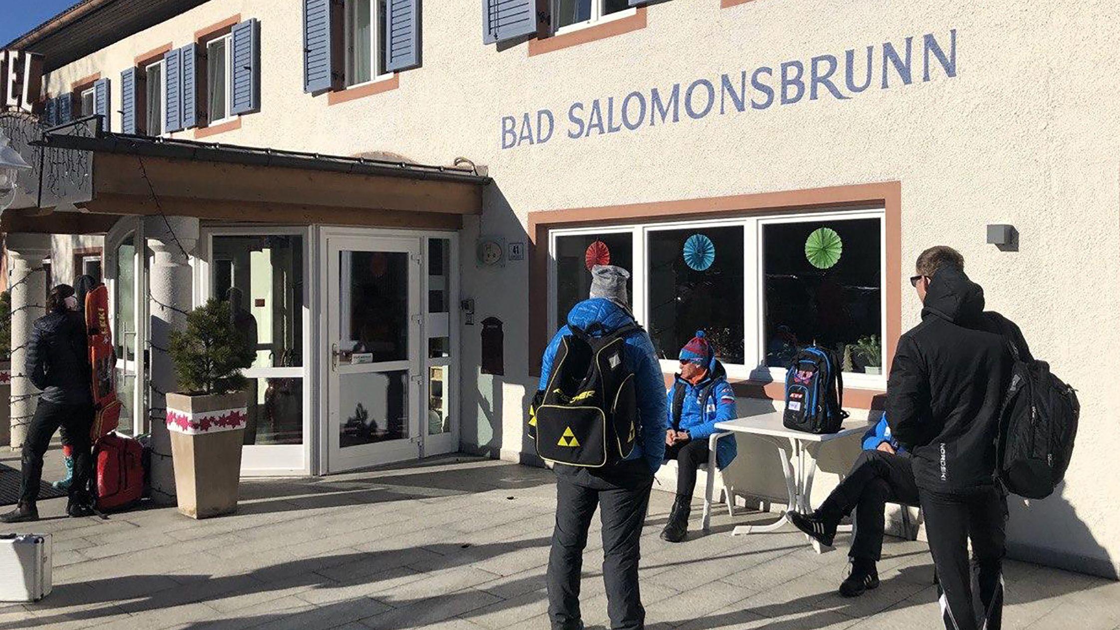 Das Teamhotel der russischen Biathleten in Antholz