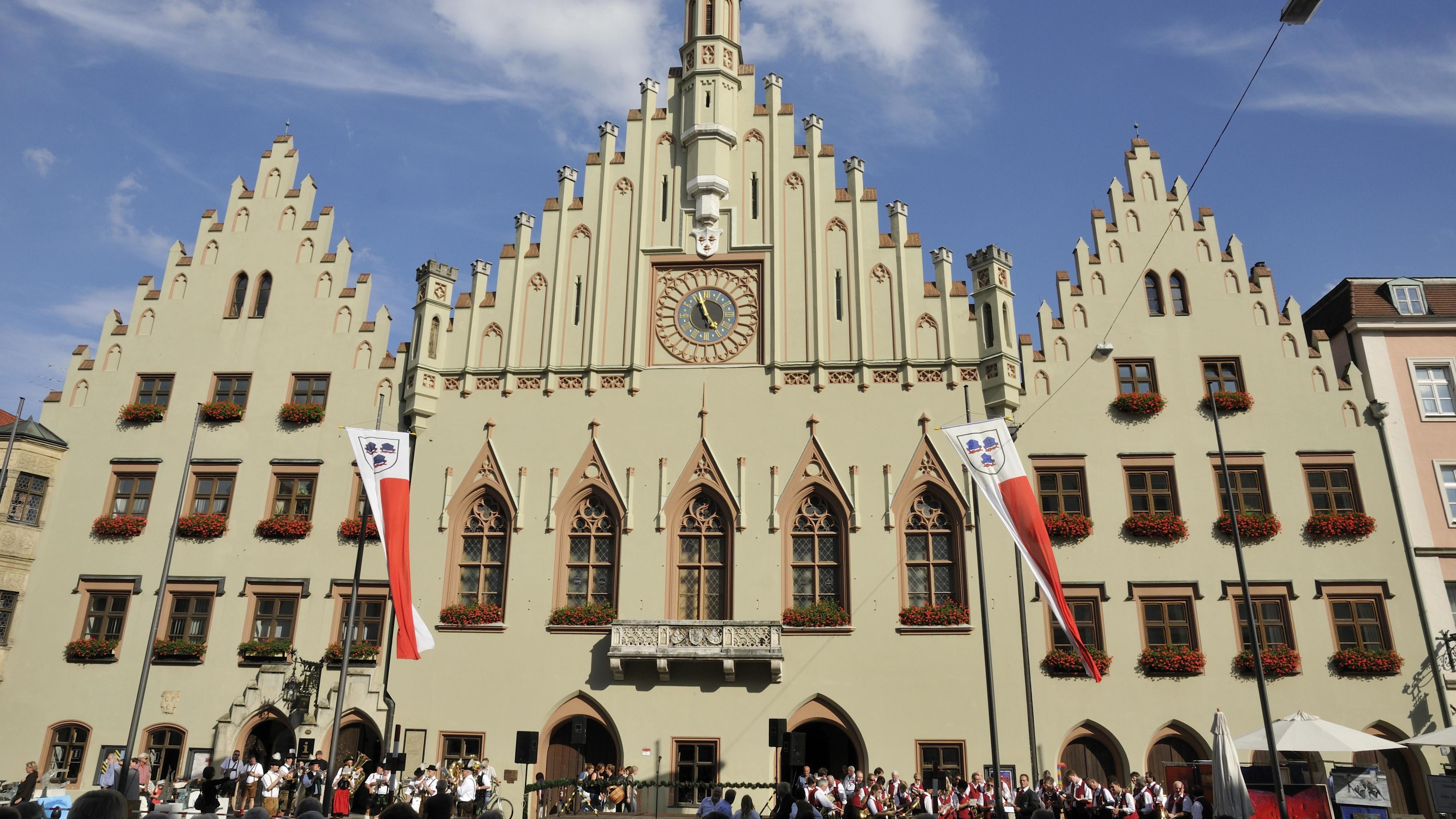 Das Rathaus in Landshut