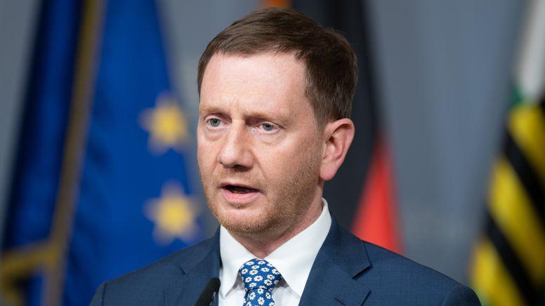 Der sächsische Ministerpräsident Michael Kretschmer (CDU).   Bild:dpa-Bildfunk/Sebastian Kahnert