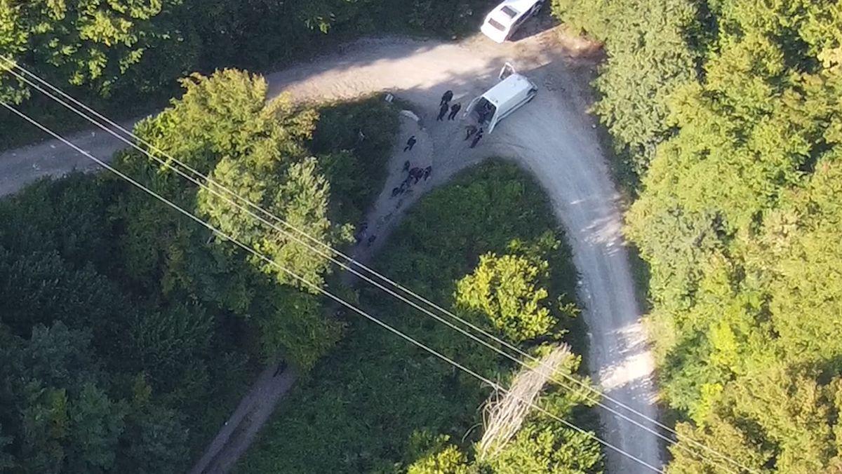 Ein weiterer Drohnen-Pushback durch kroatische Polizei an der Grenze zu Bosnien.