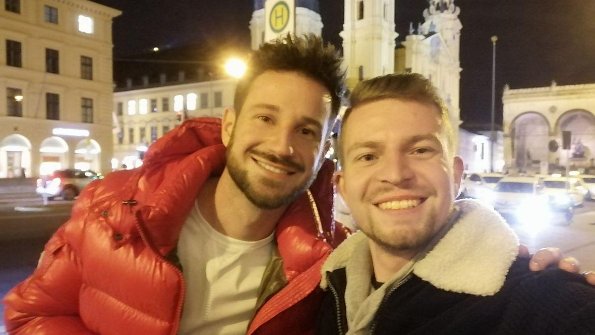 """""""Prinz Charming"""" (links) und Ex-Seminarist Henry Frömmichen."""