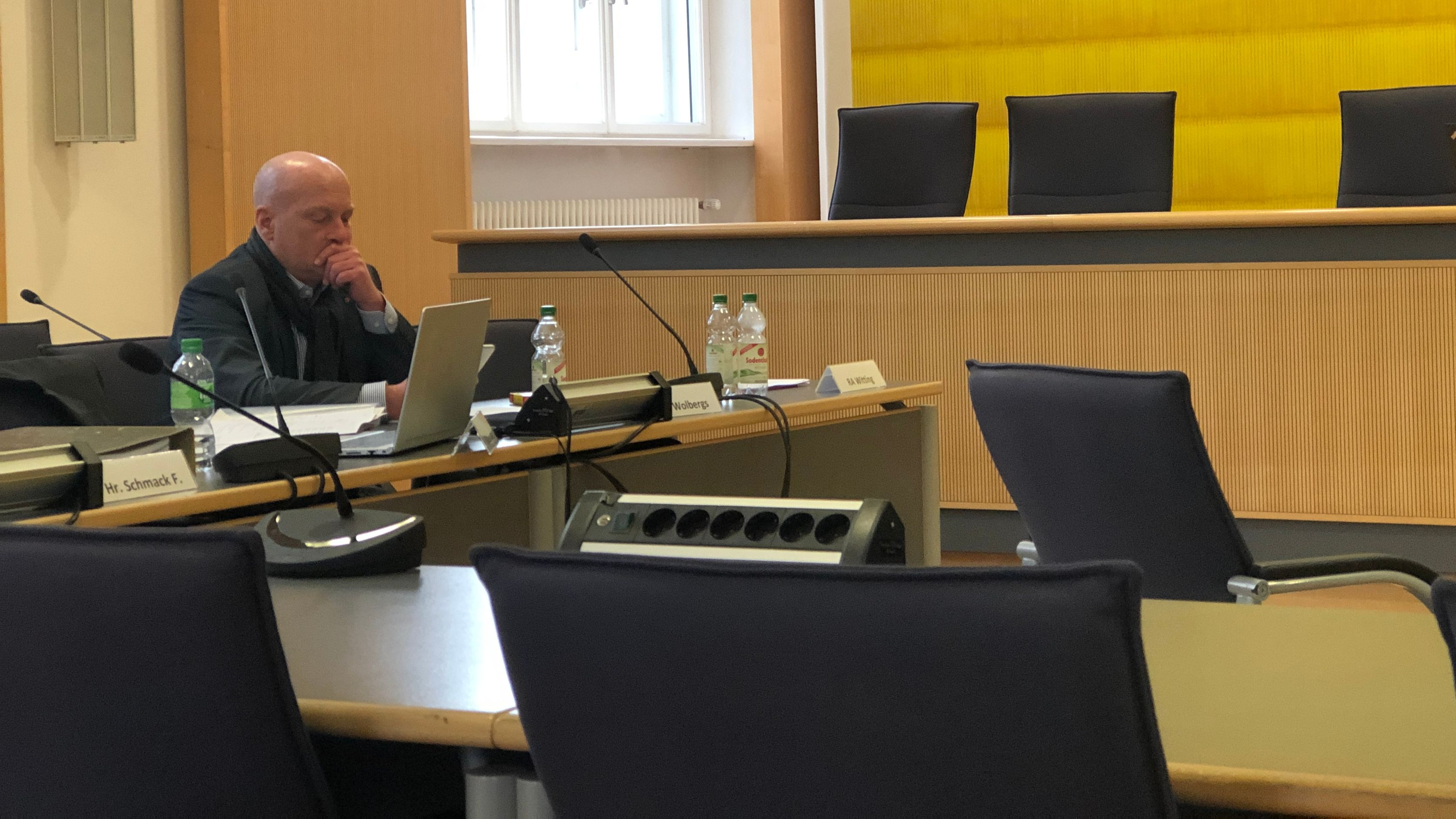 Der suspendierte Regensburger OB Joachim Wolbergs am letzten Verhandlungstag 2019