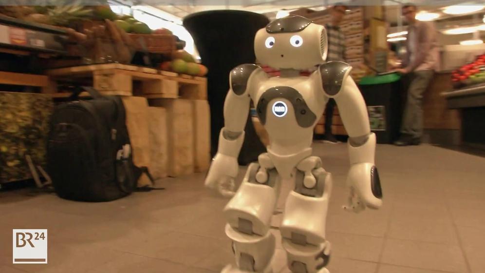 Roboter im Supermarkt | Bild:Bayerischer Rundfunk