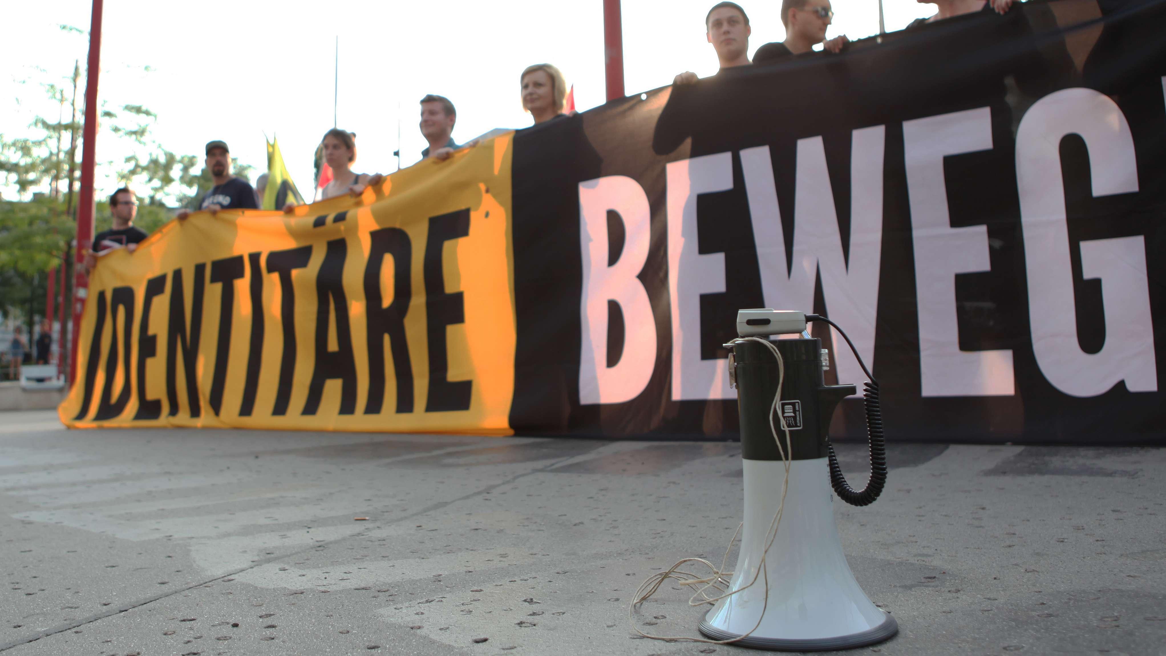Demonstration der Identitären Bewegung in Österreich im Juli 2016