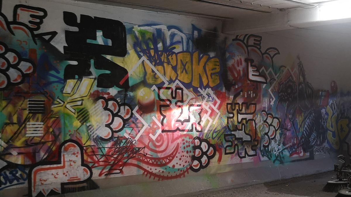 Unterschiedliche Graffitis