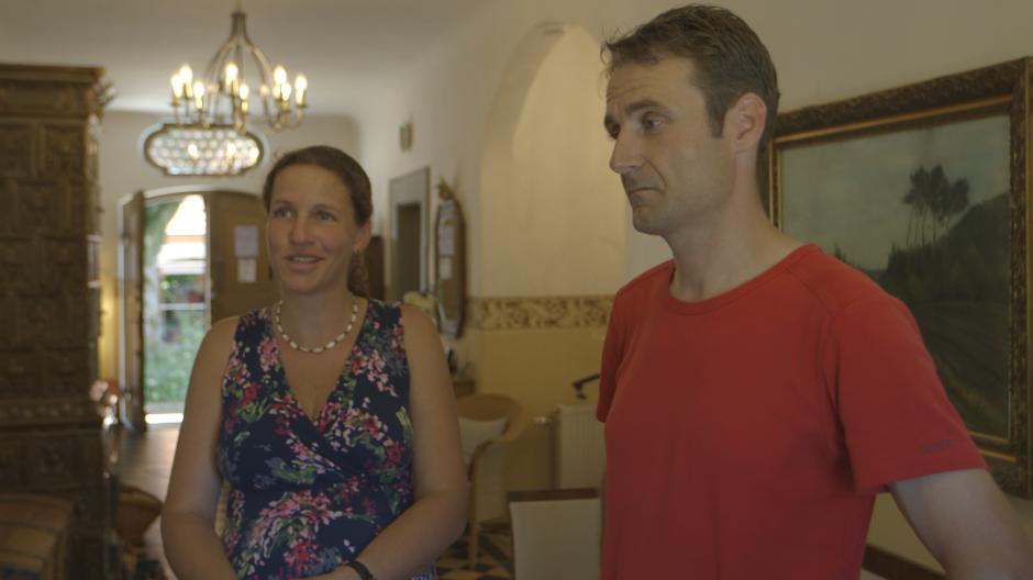 Gwendolin und Simon Meggle in ihrem renovierten ehemaligen Pfarrhaus in Hochdorf