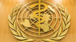 Das Logo der Weltgesundheitsorganisation (WHO) im europäischen Hauptquartier der Vereinten Nationen in Genf. | Bild:dpa-Bildfunk