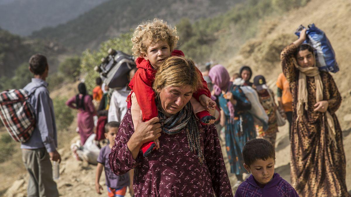 Jesiden flüchten vor dem IS (Archivbild).