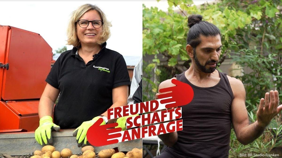 """Die fünfte #Freundschaftsanfrage-Folge: """"Schauspieler aus dem Irak - trifft Landwirtin aus Erlangen"""""""