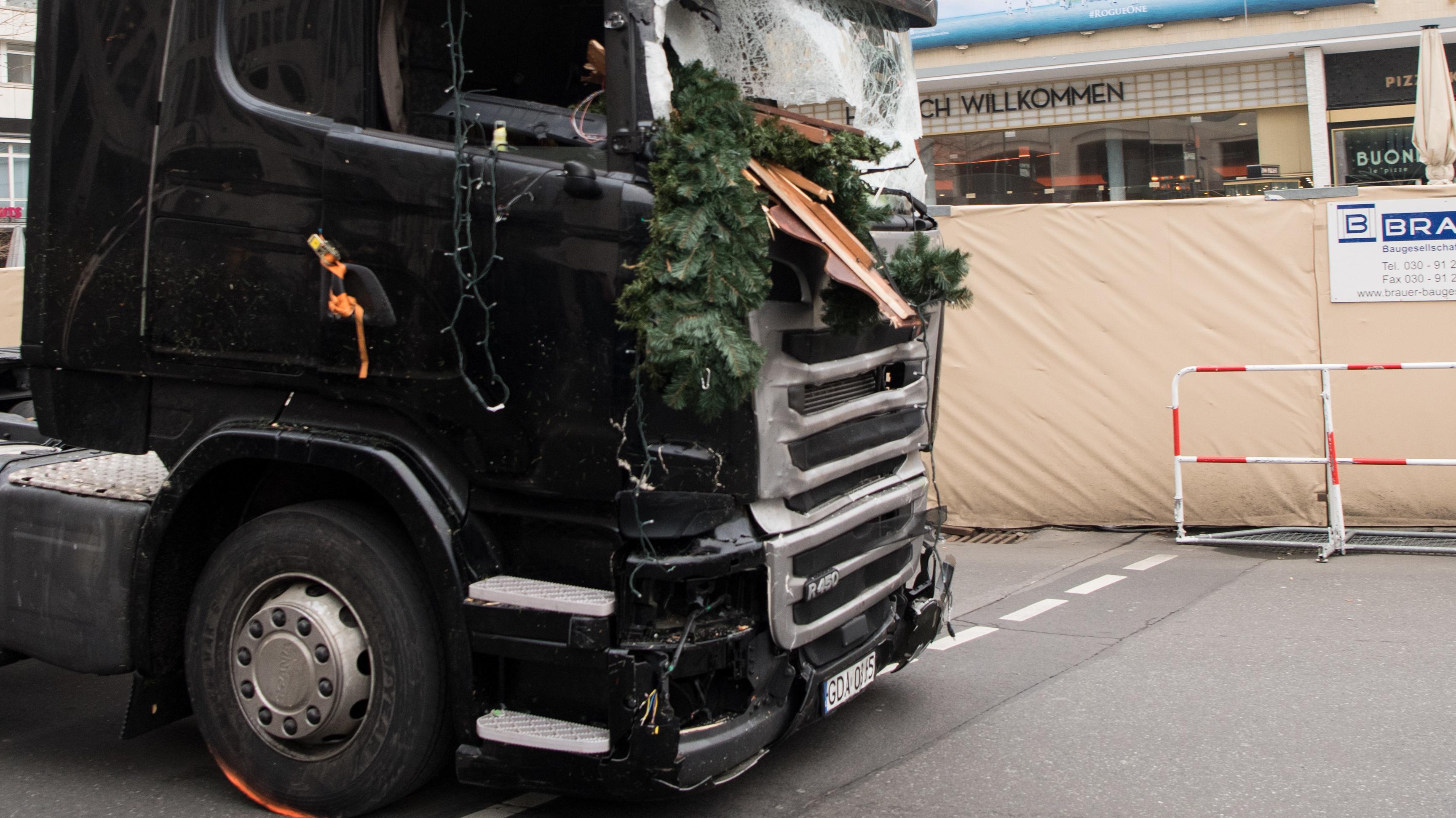 Amri-Lastwagen nach der Tat
