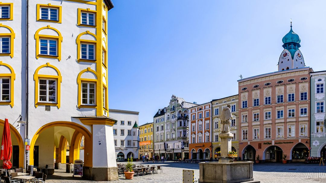 Leere Rosenheimer Innenstadt