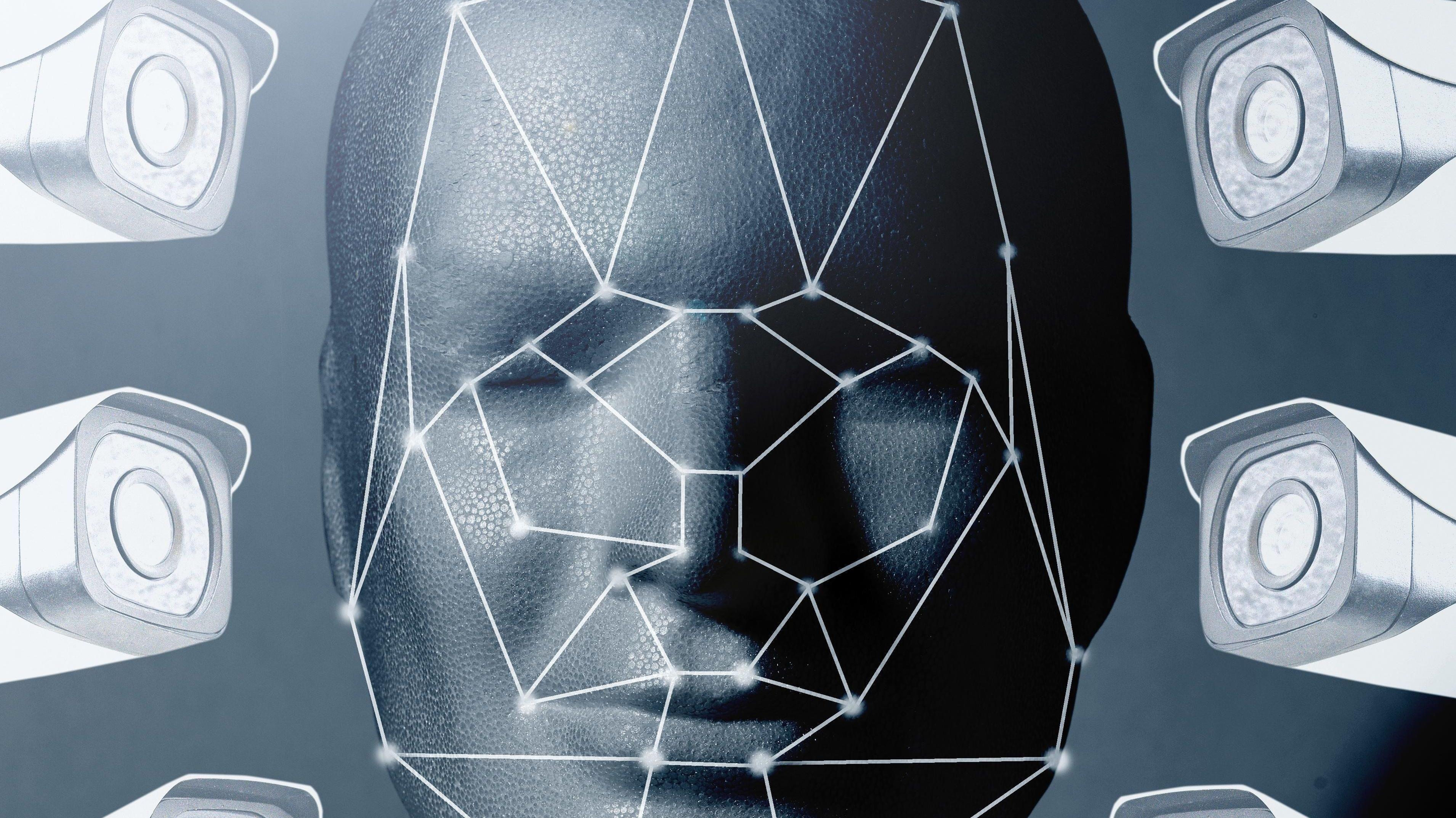 Symbolbild: Biometrische Gesichtserkennung