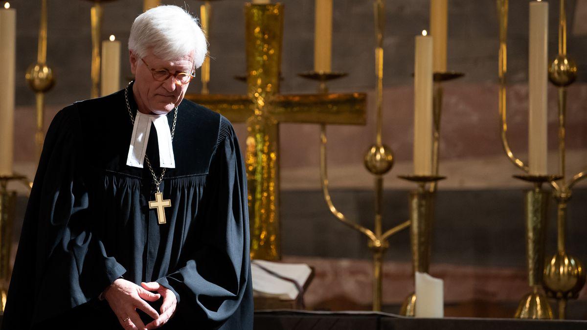 Heinrich Bedford-Strohm, Landesbischof der Evangelisch-Lutherischen Kirche in Bayern, hält Gottesdienst in der St. Matthäuskirche (Archivbild).