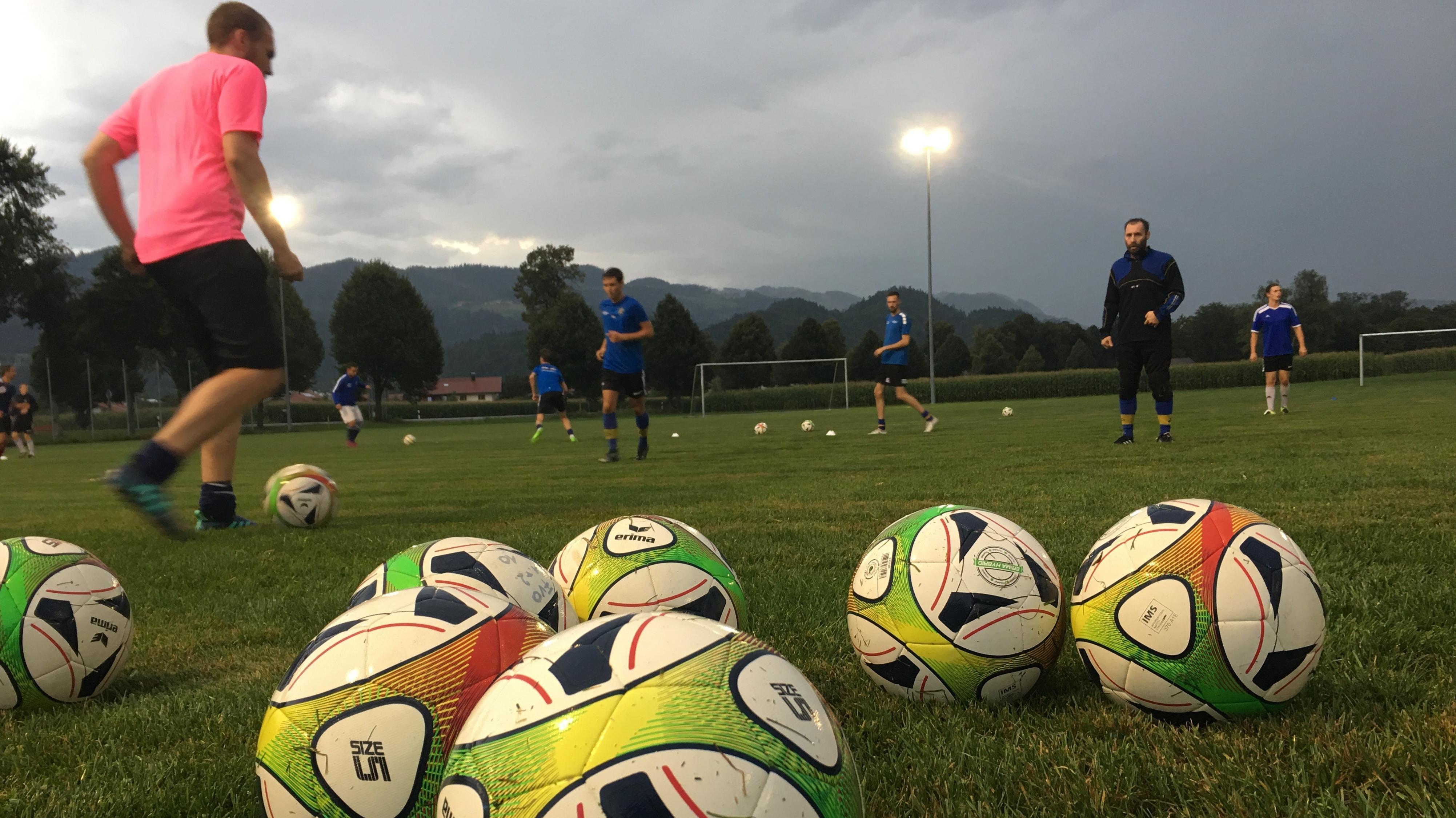 Oberaudorfer beim Fussball-Training