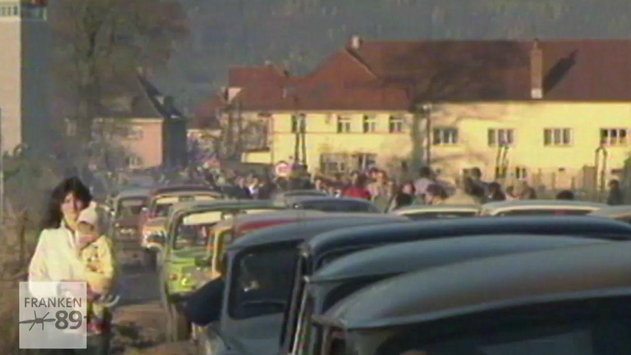 Stau am 9. November 1989 bei der Einreise nach Bayern