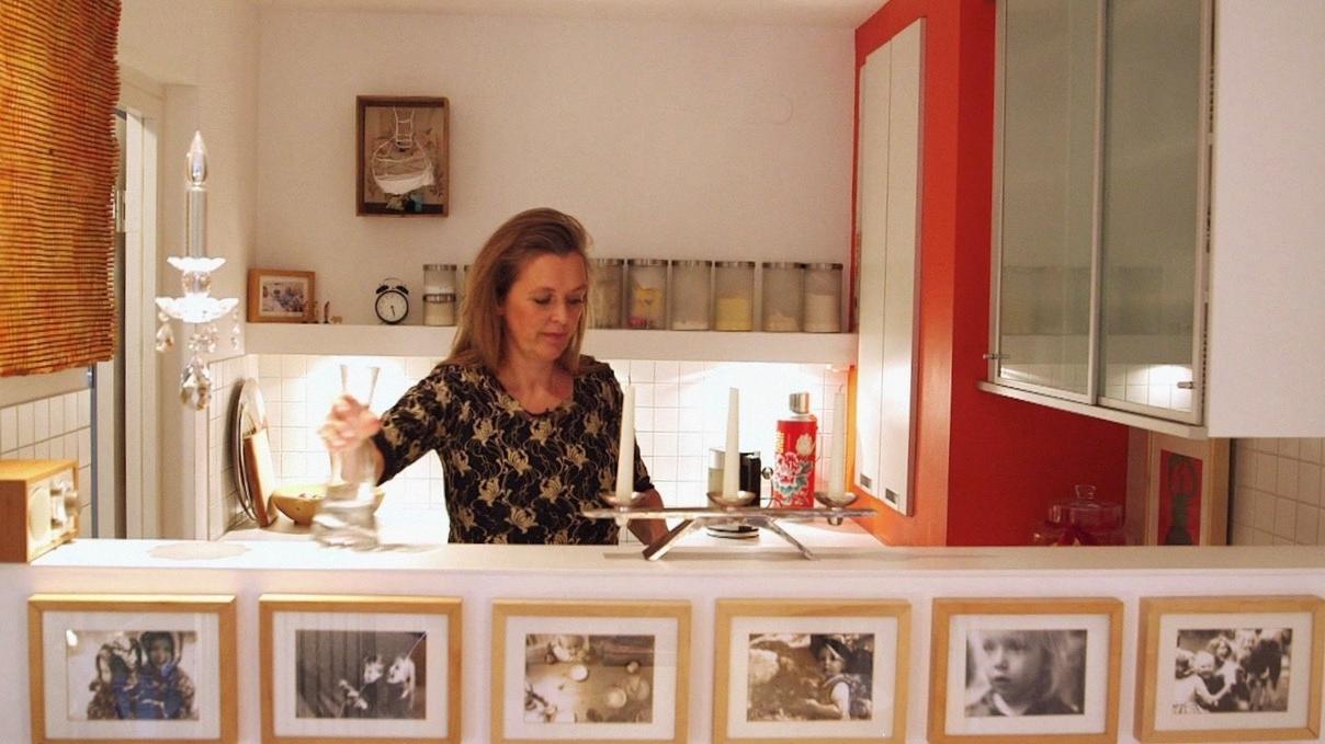 Gunda Borgeest in ihrer Wohnung in München.