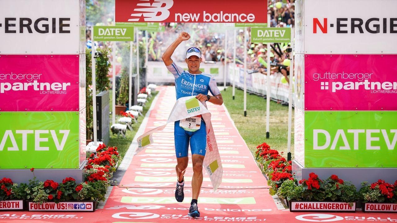 Sieger Andreas Dreitz beim Challenge Roth 2019