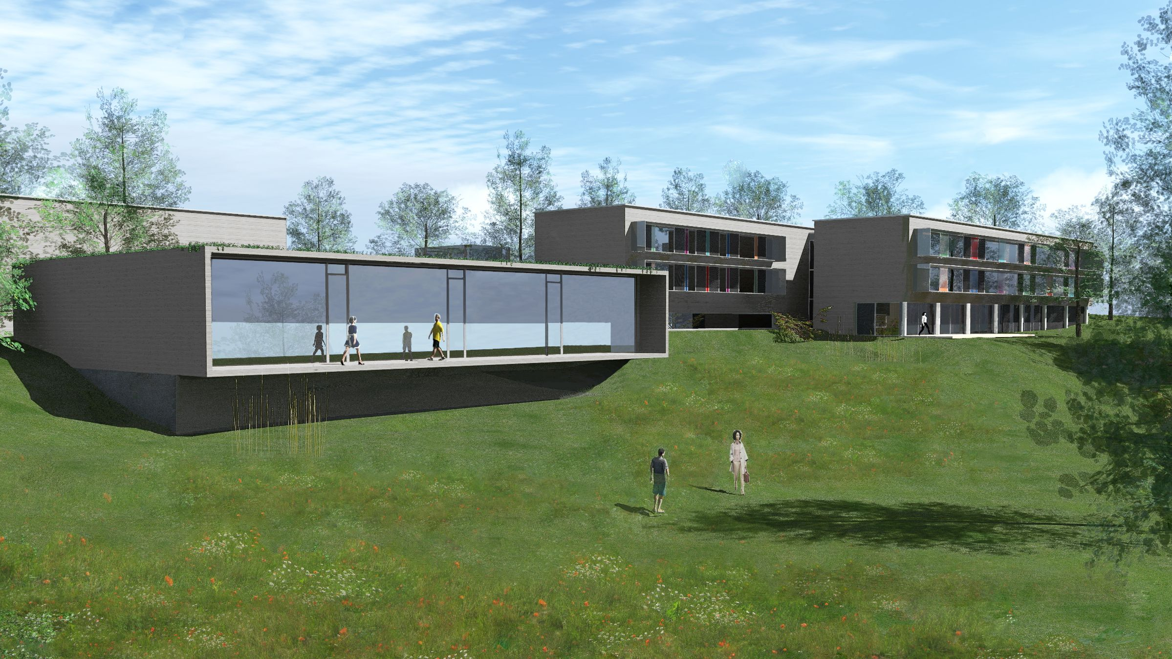 Geplanter Anbau für Sport-und Bewegungszentrum auf dem Gelände der Regensburger Uniklinik
