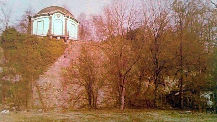 Fundort der Leiche der 15-Jährigen im Aschaffenburger Schlosspark (Aufnahme aus dem Jahr 1979)