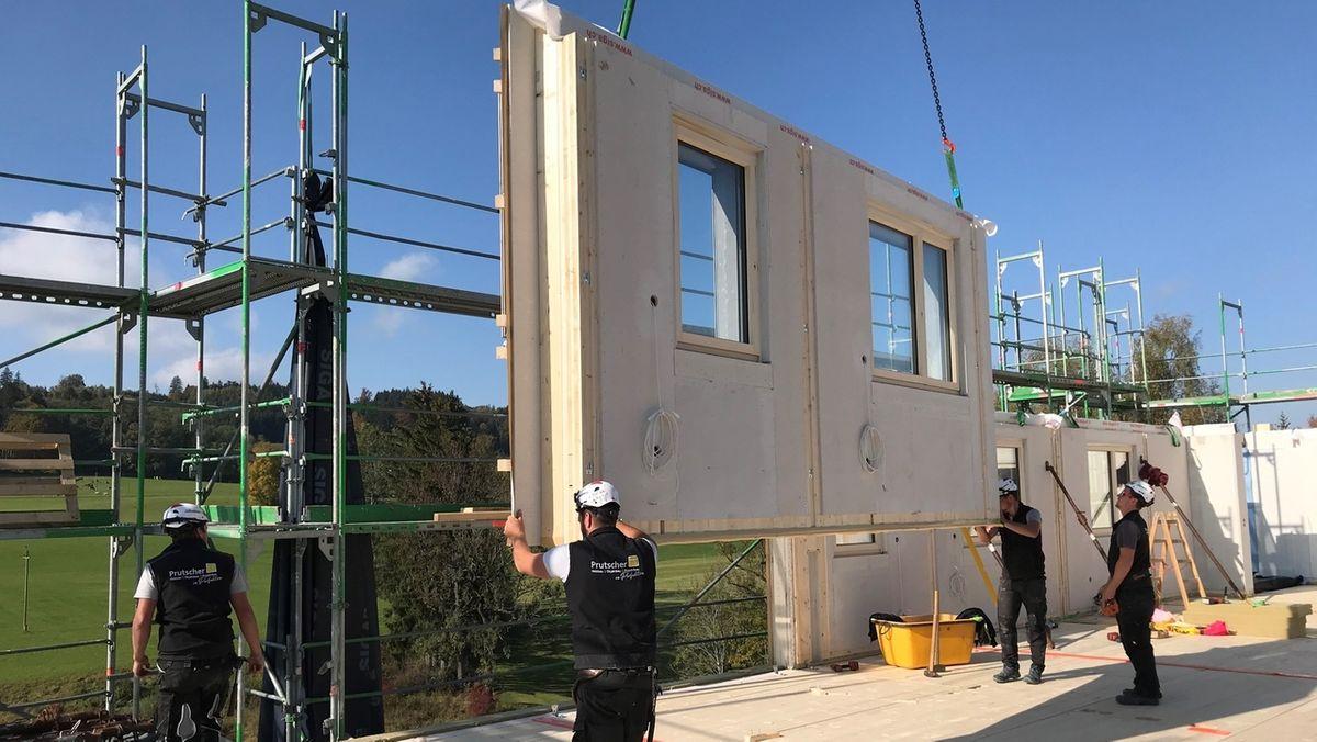 Thingers bei Kempten: Ein Hochhaus aus Holz