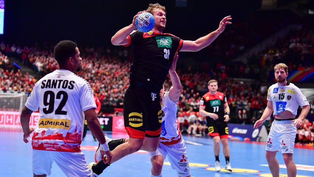 Handball-Europameisterschaft Hauptrunde, 20.01.2020, Österreich gegen Deutschland in der Wiener Stadthalle: