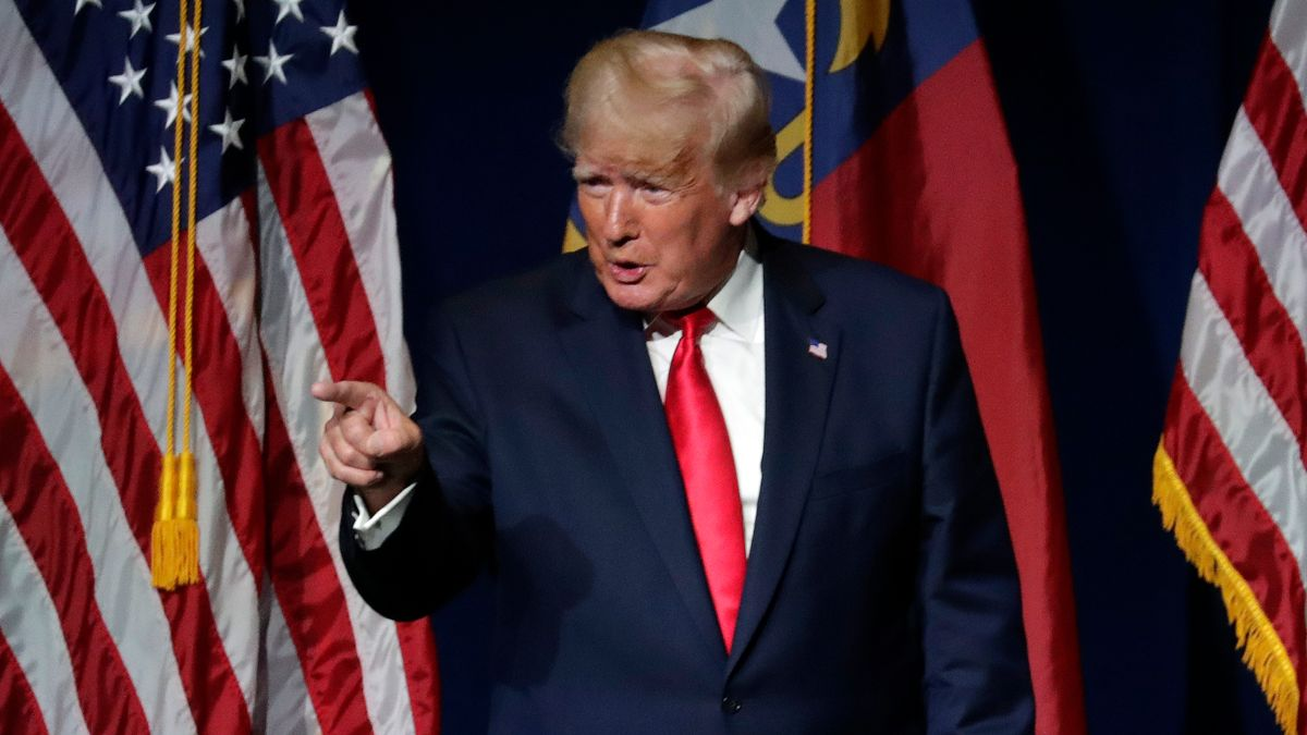 Donald Trump beim Parteitag der Republikaner in North Carolina.