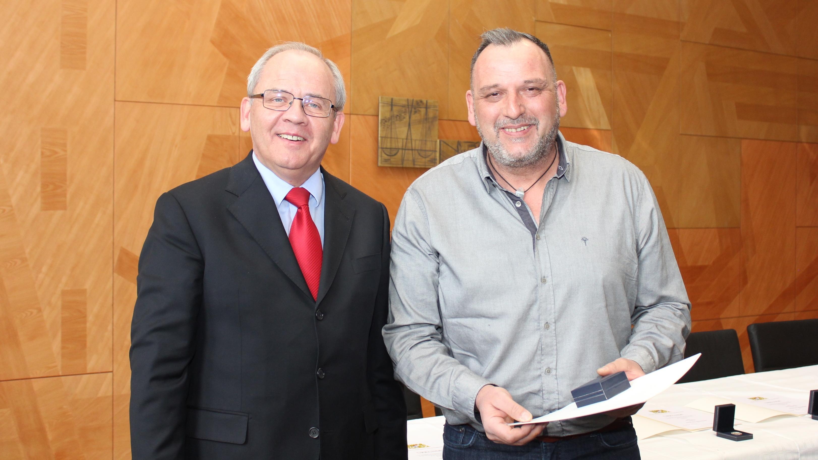 Dr. Eugen Ehmann und Frank Keimig (v.l.)