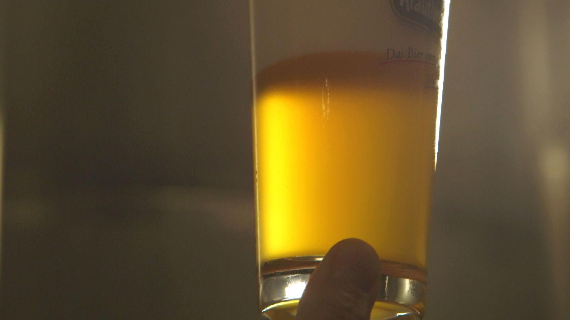 Gezapftes Bier aus Krautheim