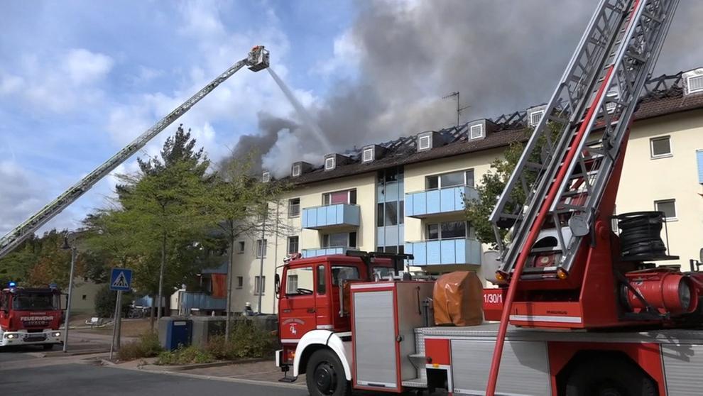 Brand im Ankerzentrum Bamberg. | Bild:BR