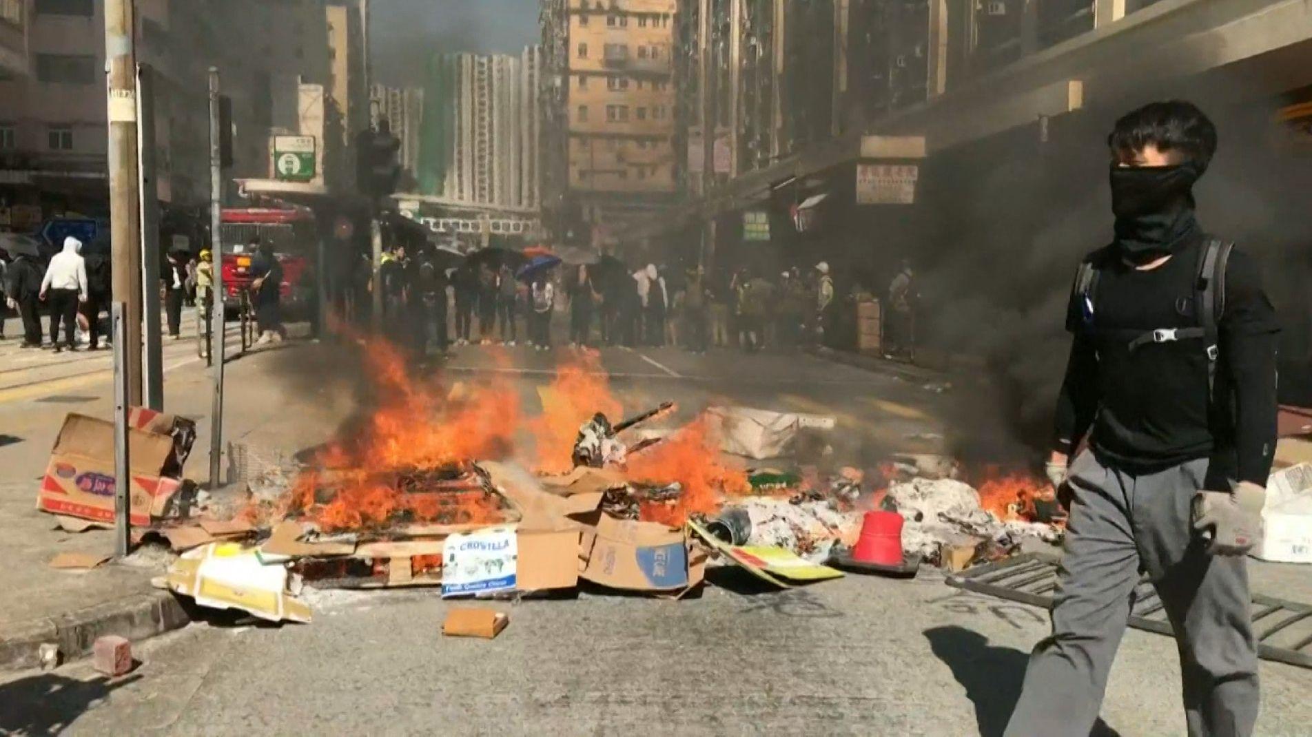 Proteste in Hongkong: Polizei schießt erneut auf Demonstranten