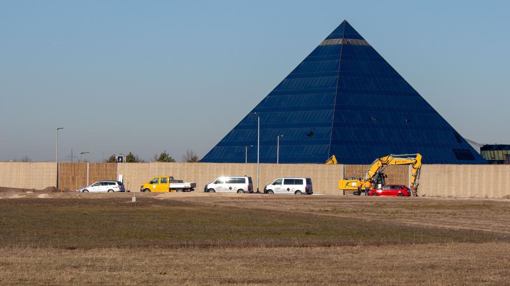 Der Bomben-Fundort an der Fürther Pyramide | Bild:News5