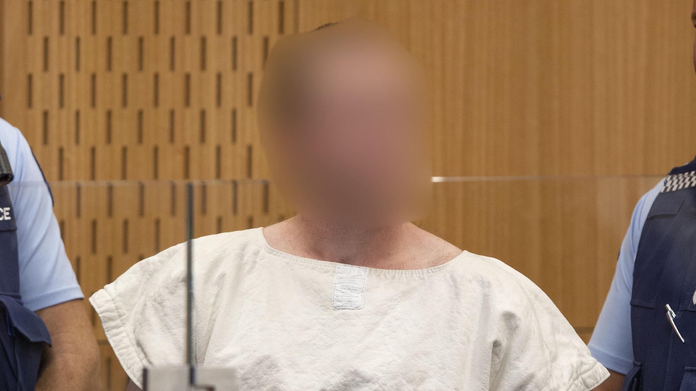 Brenton Tarrant bei einer Anhörung vor Gericht