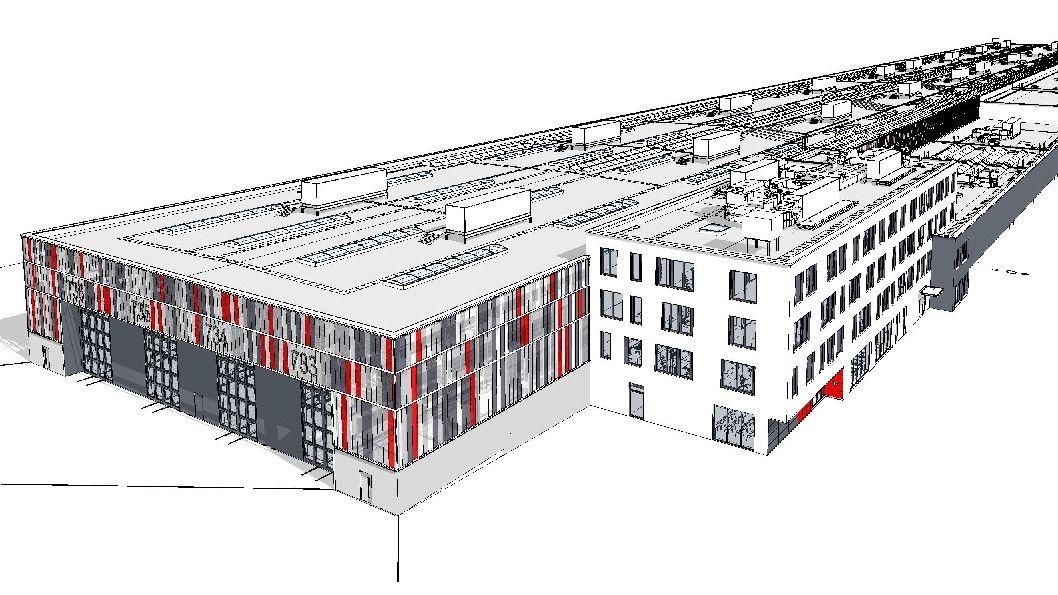 Skizze zu geplantem ICE-Werk bei Nürnberg