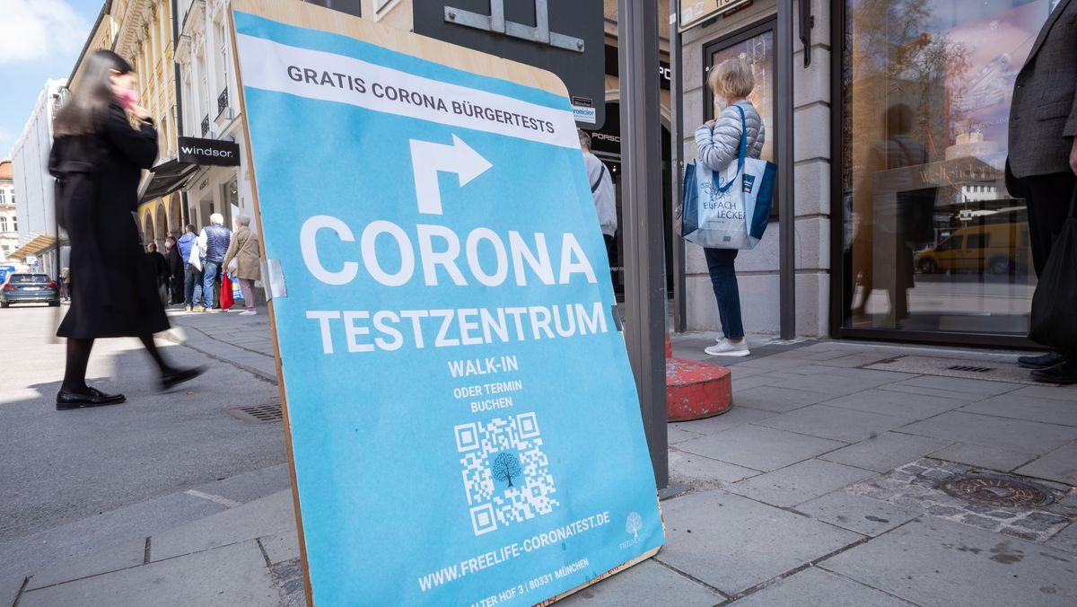 Coronatestzentrum in Münchner Innenstadt 30.4.2021