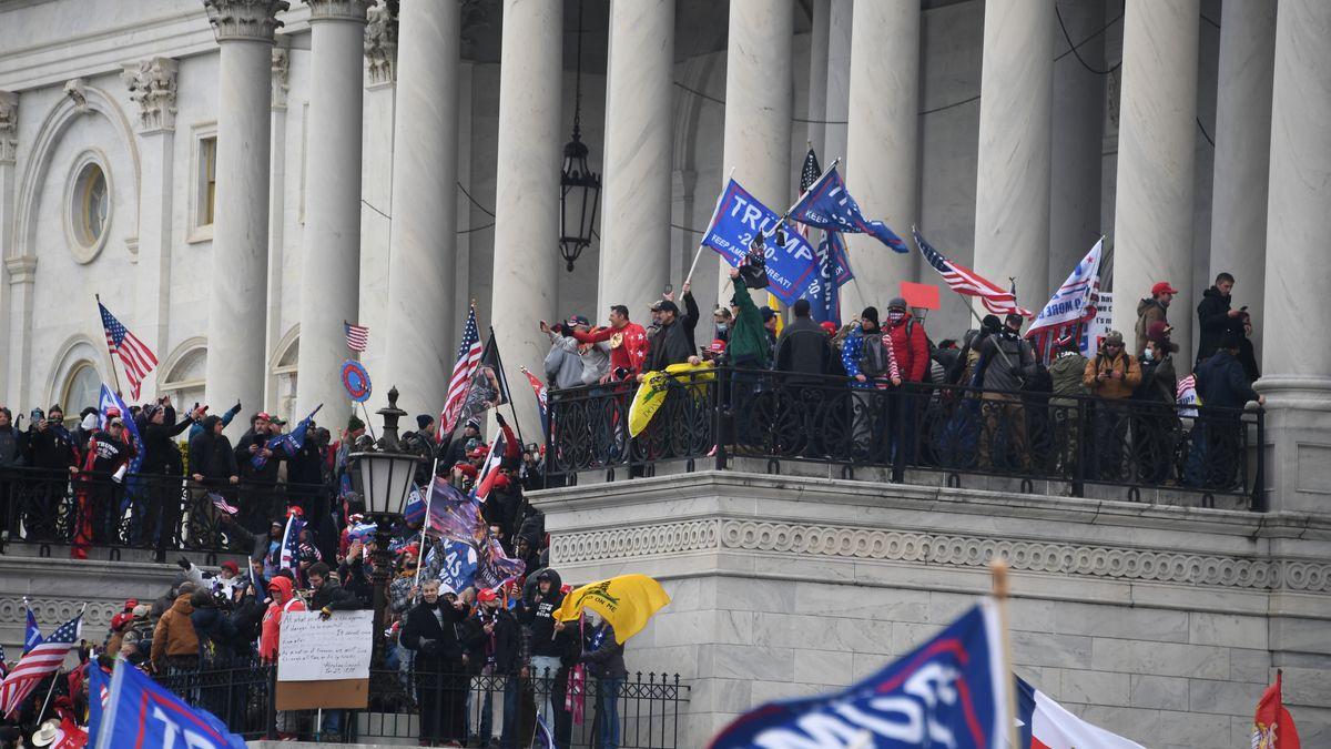 6. Januar 2021: Trump-Anhänger stürmen das Kapitol, Sitz des US-Kongresses