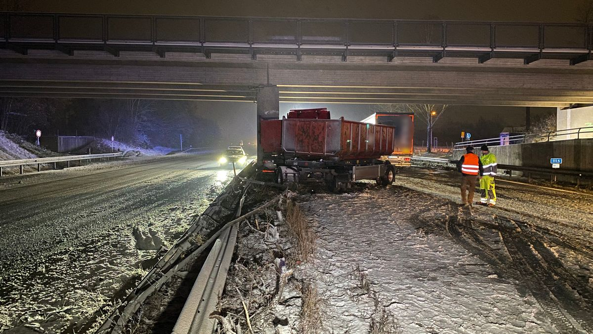 Lkw-Unfall auf der A73 bei Hirschaid