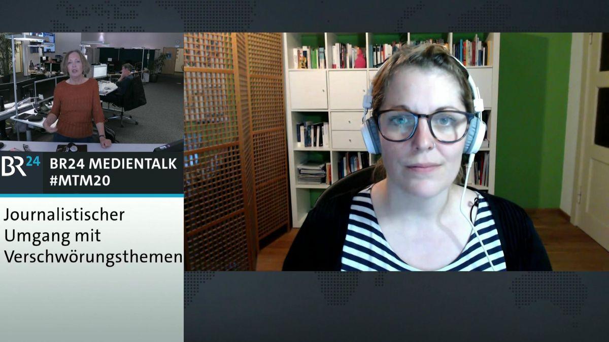 Die Psychologin Pia Lamberty im Gespräch mit BR24