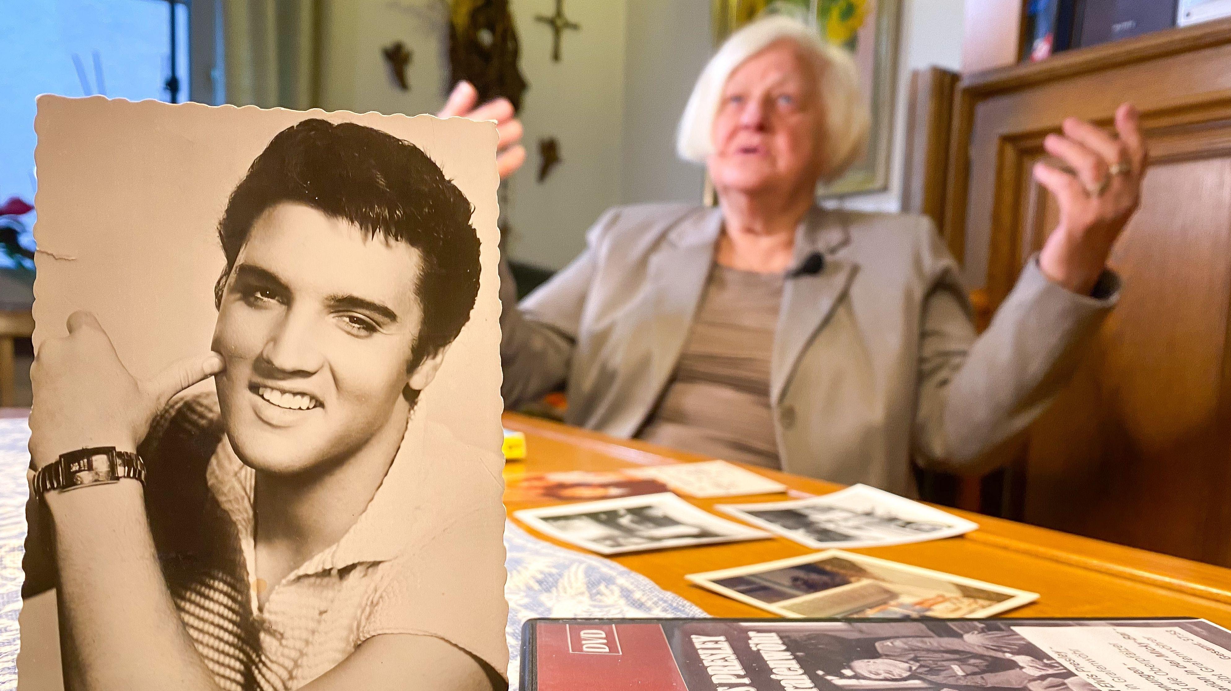Gisela Zechmayer aus Grafenwöhr lernte Elvis Presley in ihrer Jugendzeit kennen.