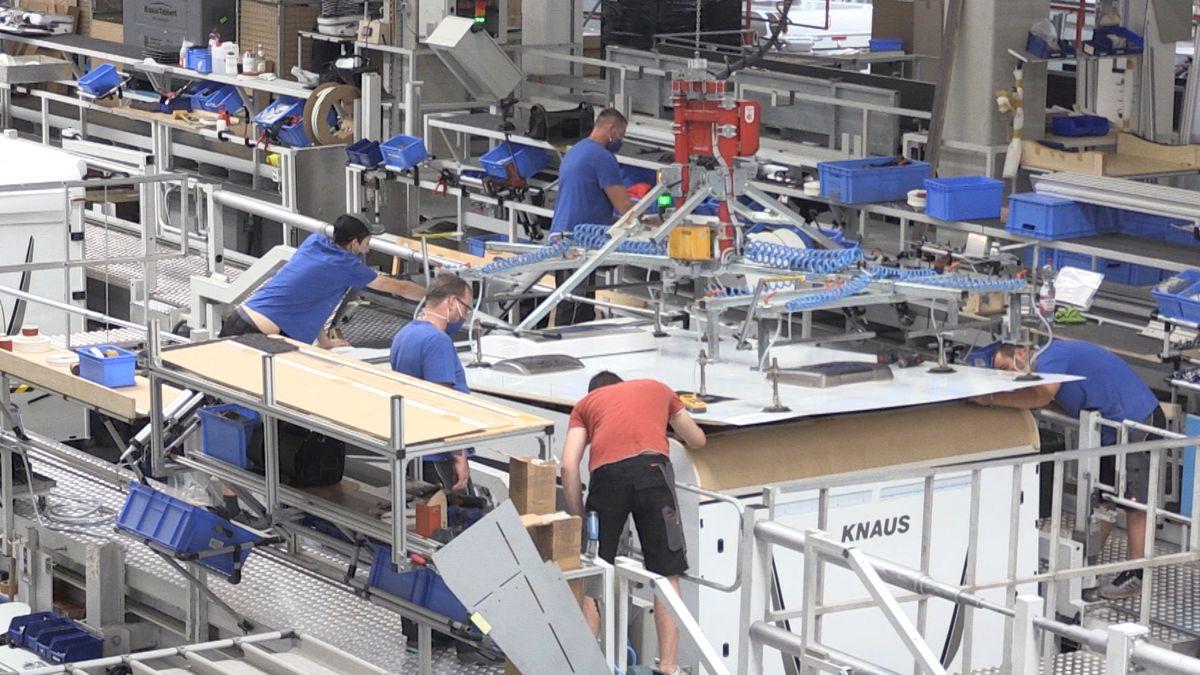 Produktion bei Knaus Tabbert