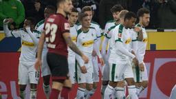 Gladbach feiert, Nürnberg schaut düpiert.   Bild:Picture alliance/dpa