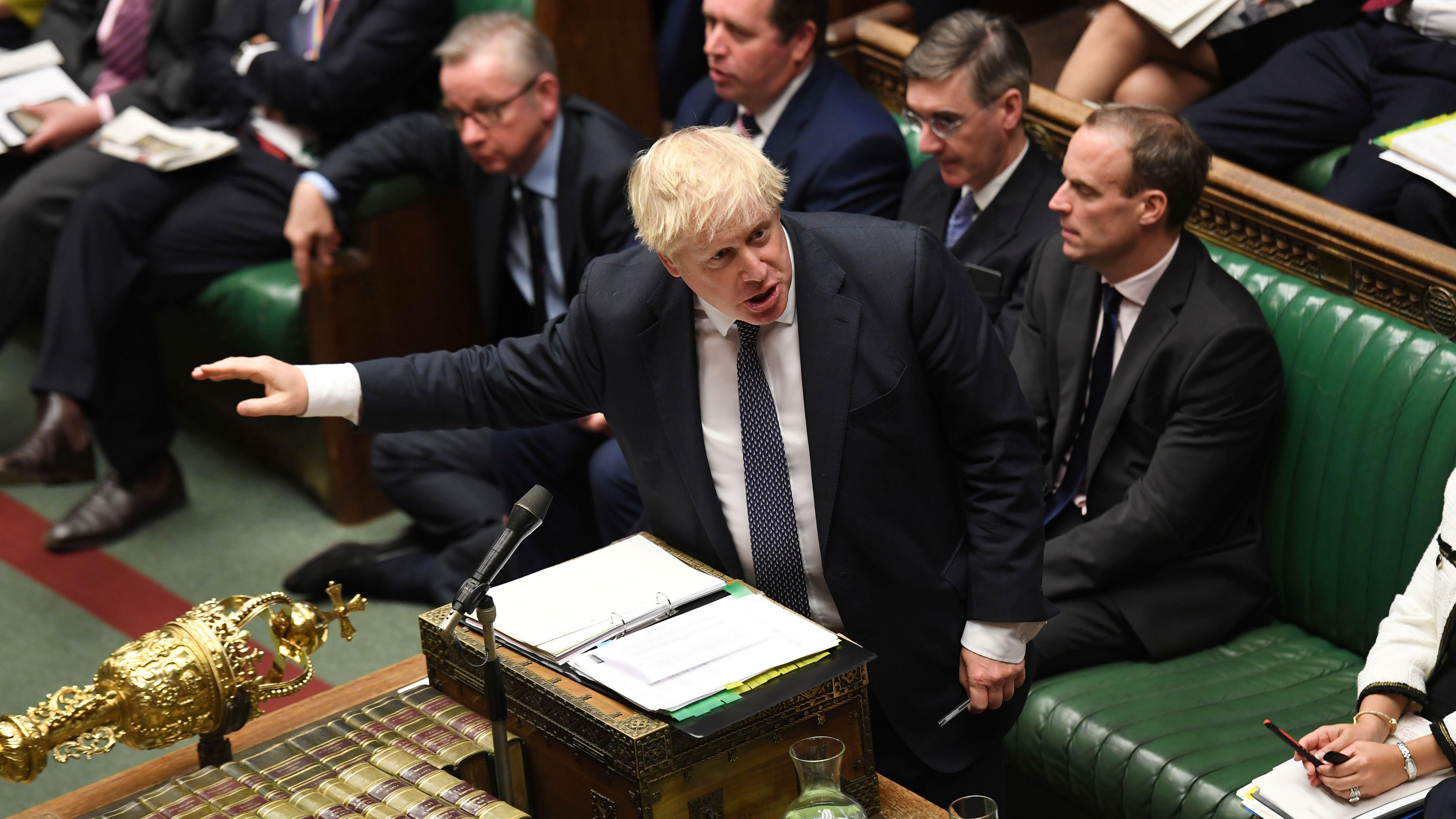 Premier Boris Johnson im britischen Unterhaus