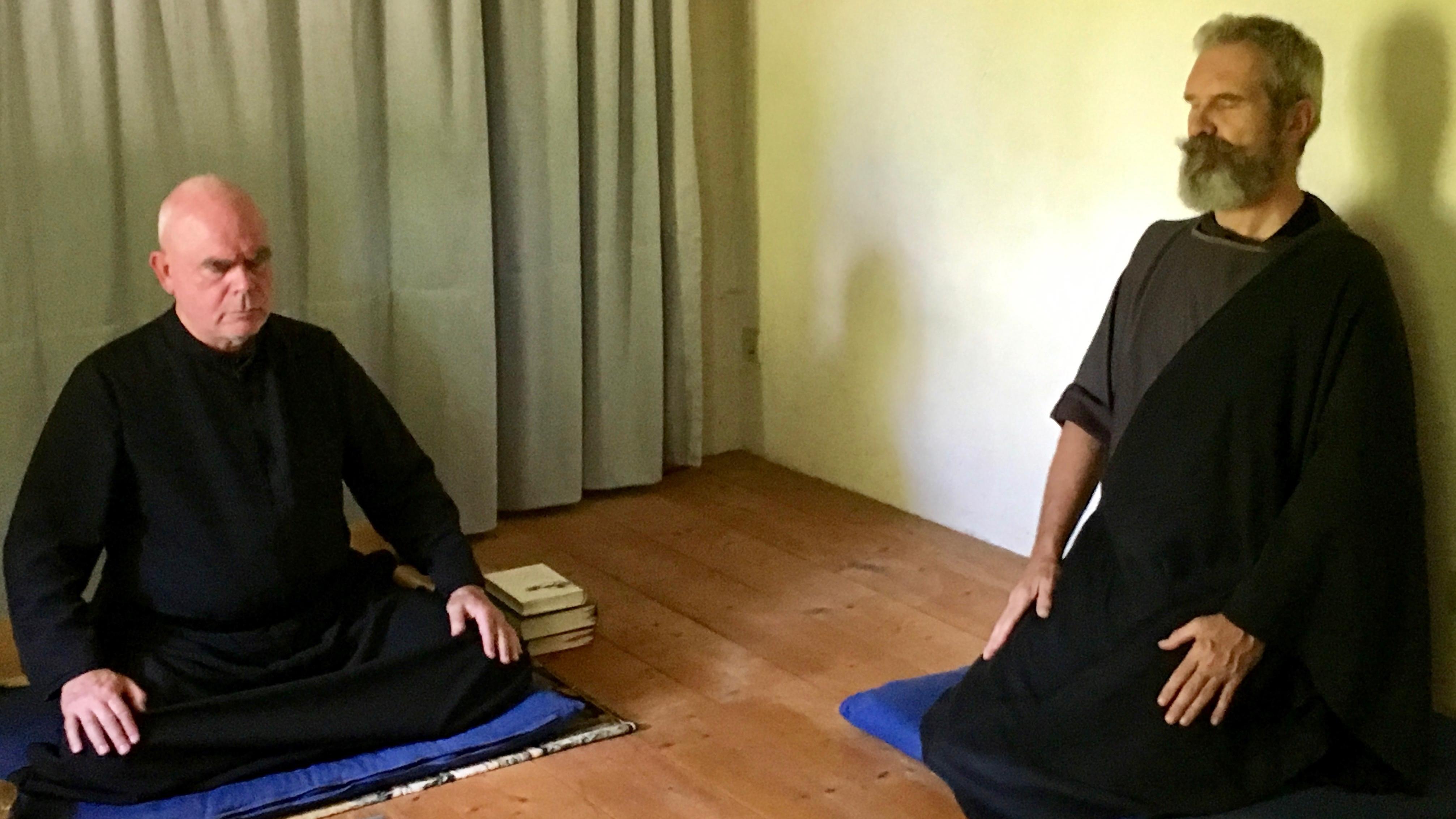Gemeinsame Meditation bei Eremit Jacobus Kaffanke.