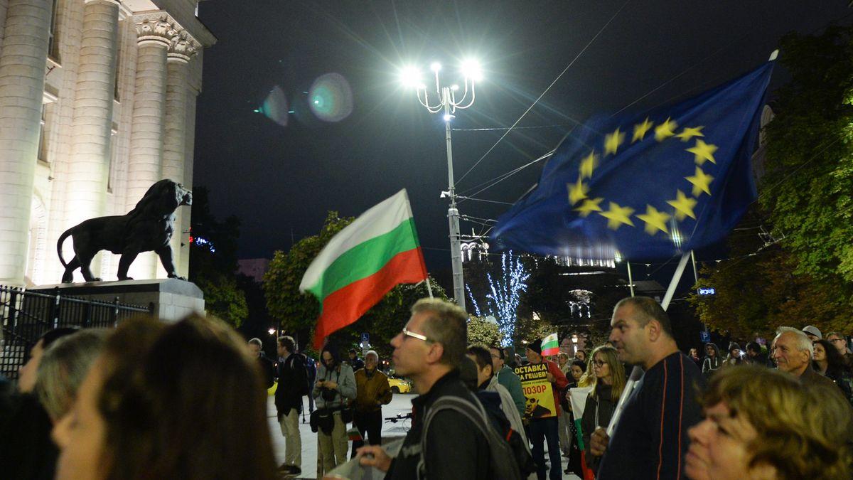 Demonstration in Sofia / Bulgarien