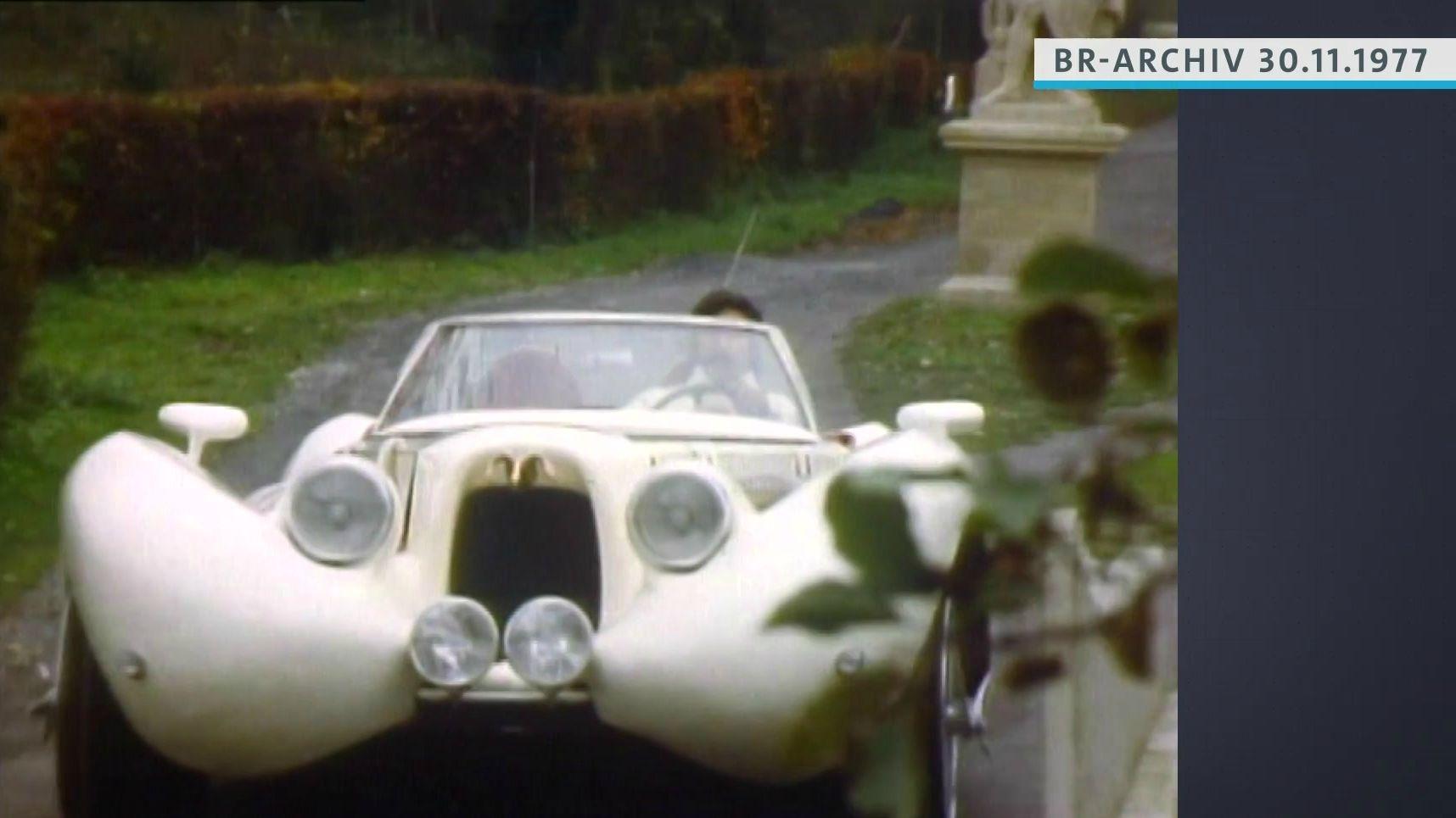 Luigi Colani im Auto