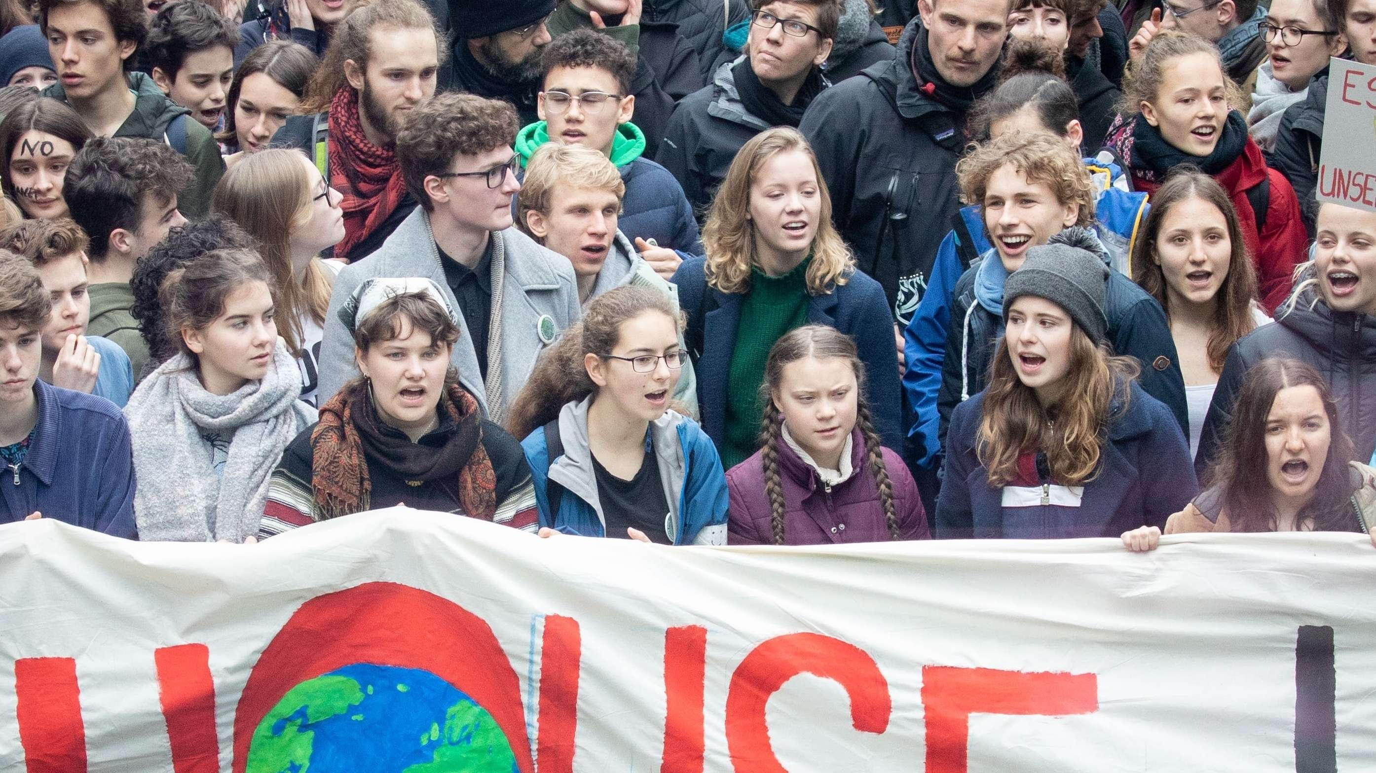 "Die schwedische Schülerin Greta Thunberg bei der ""Fridays for Future""- Demonstration in Berlin"